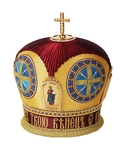 Embroidered mitre no.127