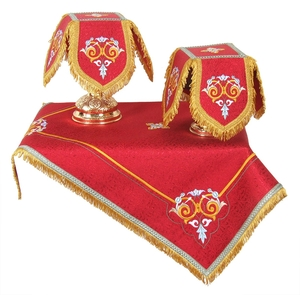 Embroidered chalice covers (veils) - Balaam (red/gold)
