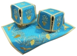 Chalice covers (veils) Cornflowers (blue/gold)