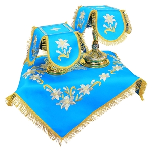 Embroidered chalice covers (veils) - Trinity Lily