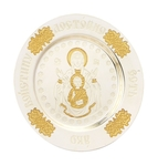 Liturgical plate with icon of Our Lady of the Sign