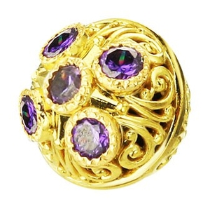 Jewelry vestment button - 6