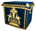 Holy table vestments - 1 (blue-gold)