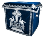 Holy table vestments - 1 (blue-silver)