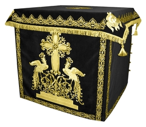 Holy table vestments - 1 (black-gold)