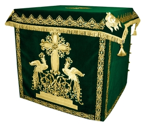 Holy table vestments - 1 (green-gold)