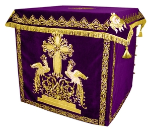 Holy table vestments - 1 (violet-gold)