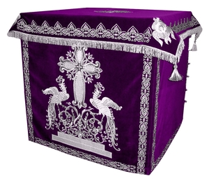 Holy table vestments - 1 (violet-silver)