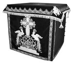 Holy table vestments - 1 (black-silver)