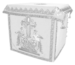 Holy table vestments - 1 (white-silver)