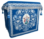 Holy table vestments - no.1 (blue-silver)