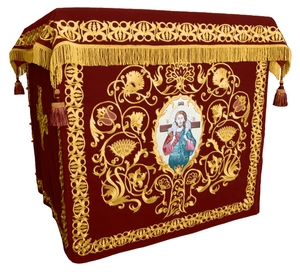 Holy table vestments - no.1 (claret-gold)