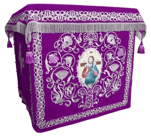 Holy table vestments - no.1 (violet-silver)