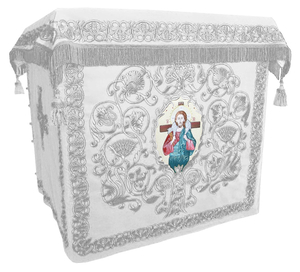 Holy table vestments - no.1 (white-silver)