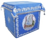 Holy table vestments - no.2 (blue-silver)