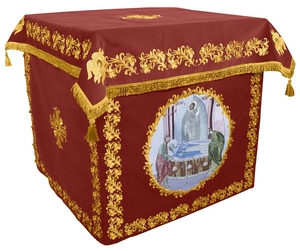 Holy table vestments - no.2 (claret-gold)