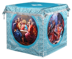 Holy table vestments - 3 (blue-silver)