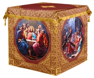 Holy table vestments - 3 (claret-gold)