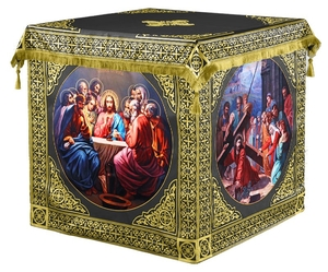 Holy table vestments - 3 (black-gold)