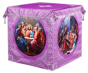 Holy table vestments - 3 (violet-silver)