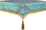 Embroidered Holy table cover no.1 (br.) (blue-gold)