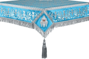 Embroidered Holy table cover no.1 (br.) (blue-silver)