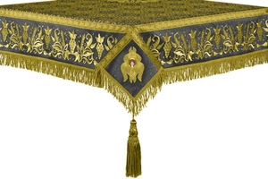 Embroidered Holy table cover no.1 (br.) (black-gold)