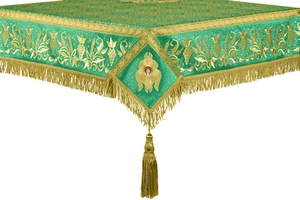 Embroidered Holy table cover no.1 (br.) (green-gold)