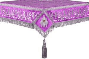 Embroidered Holy table cover no.1 (br.) (violet-silver)