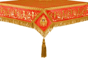 Embroidered Holy table cover no.1 (br.) (red-gold)