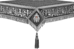 Embroidered Holy table cover no.1 (br.) (black-silver)