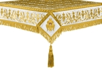 Embroidered Holy table cover no.1 (br.) (white-gold)