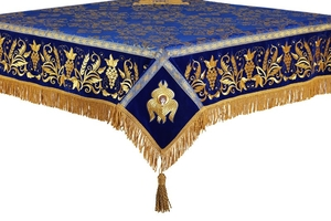 Embroidered Holy table cover no.1 (comb.) (blue-gold)