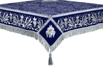Embroidered Holy table cover no.1 (comb.) (blue-silver)