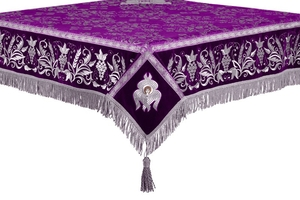 Embroidered Holy table cover no.1 (comb.) (violet-silver)
