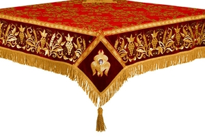 Embroidered Holy table cover no.1 (comb.) (red-gold)