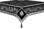 Embroidered Holy table cover no.1 (comb.) (black-silver)