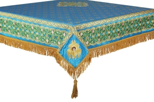 Embroidered Holy table cover no.3 (blue-gold)