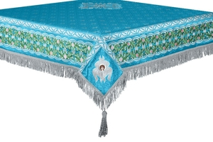 Embroidered Holy table cover no.3 (blue-silver)