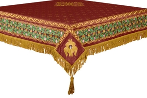 Embroidered Holy table cover no.3 (claret-gold)