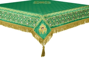 Embroidered Holy table cover no.3 (green-gold)