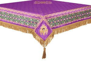 Embroidered Holy table cover no.3 (violet-gold)