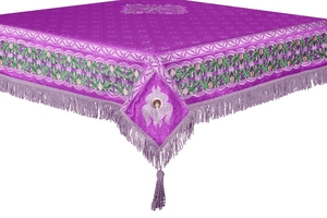 Embroidered Holy table cover no.3 (violet-silver)