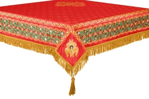 Embroidered Holy table cover no.3 (red-gold)