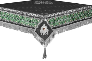 Embroidered Holy table cover no.3 (black-silver)