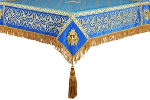 Embroidered Holy table cover no.4 (blue-gold)