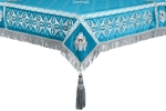 Embroidered Holy table cover no.4 (blue-silver)