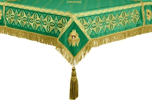 Embroidered Holy table cover no.4 (green-gold)