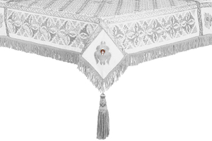 Embroidered Holy table cover no.4 (white-silver)