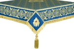 Embroidered Holy table cover no.6 (blue-gold)